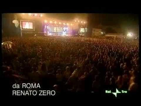 Nei giardini che nessuno sa, Renato Zero - Live8, Roma, Circo Massimo, 2 Luglio 2005 - L. Melotti, M.Galli, S.Senesi, G.Cocilovo