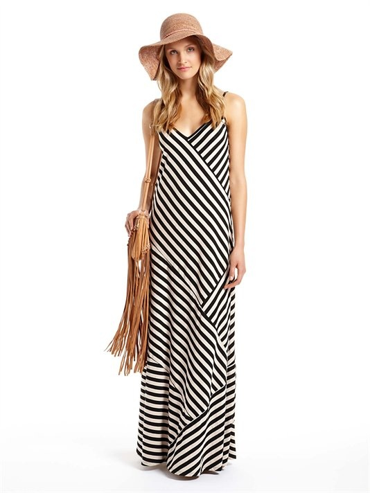 DKNY Patch Bias Striped Spaghetti Strap Dress - just ordered this maxi dress... perfect, perfect, perfect!