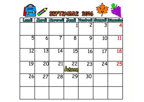 calendrier ecole maternelle a imprimer