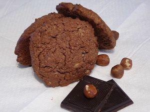 Csokis, mogyorós zabpehely keksz recept