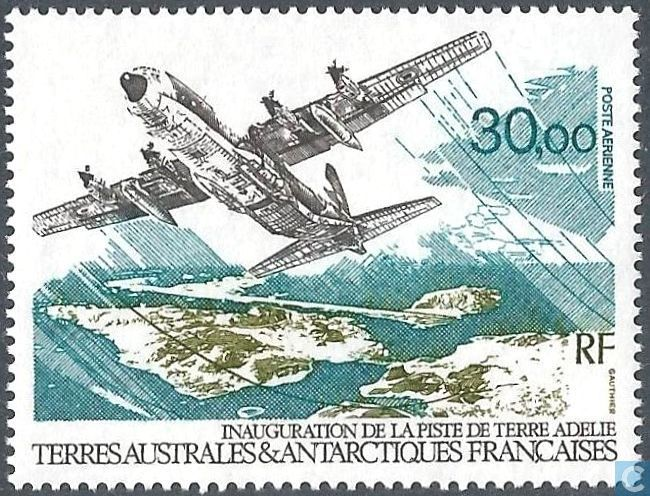 Postage Stamps - French Southern and Antarctic Lands - Inauguration of the airport of Adélie Land