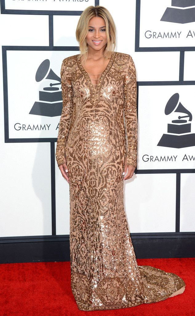 Ciara from Best Dressed at the 2014 Grammys | E! Online - What a glowing smile! Ciara nows how to rock maternity in style
