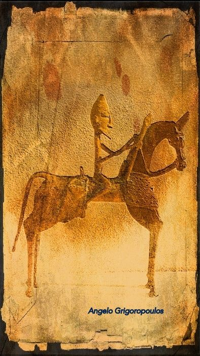 Bronze Horseman - Photo on canvas by Angelo Grigoropoulos