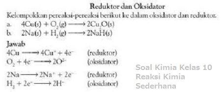Soal Kimia Kelas 10 Reaksi Kimia Sederhana