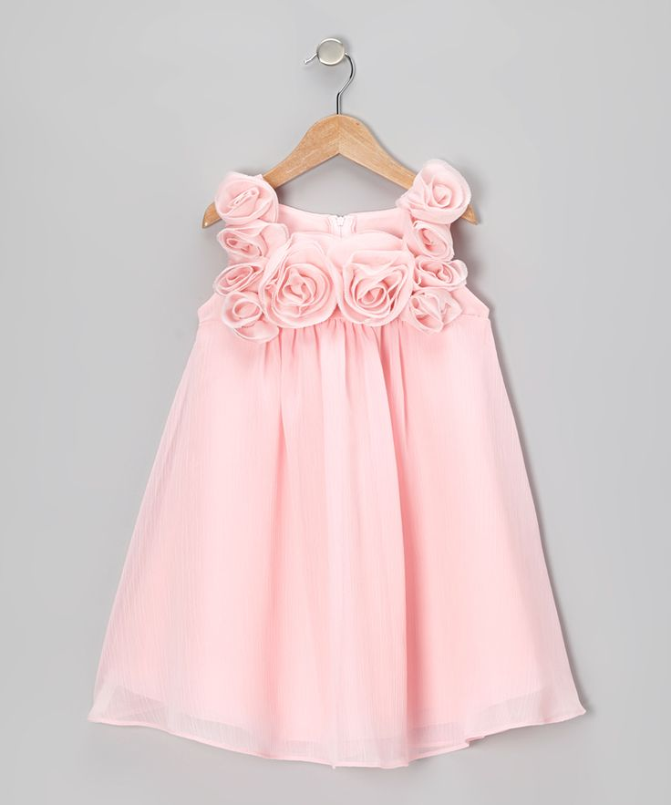 Pink Rosette Dress - Infant, Toddler & Girls | Daily deals for moms, babies and kids