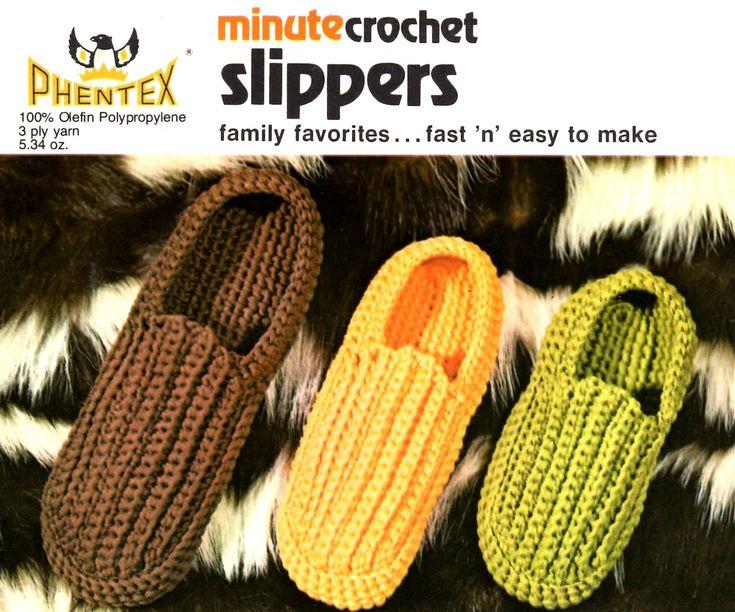 Minuto padrão de chinelos de crochê para toda a família. Rápido e fácil de fazer usin ...