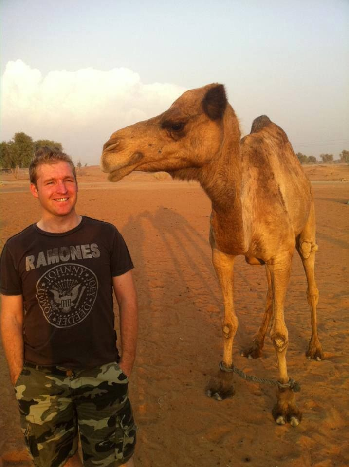 Stefan loves camels too (and they love him)