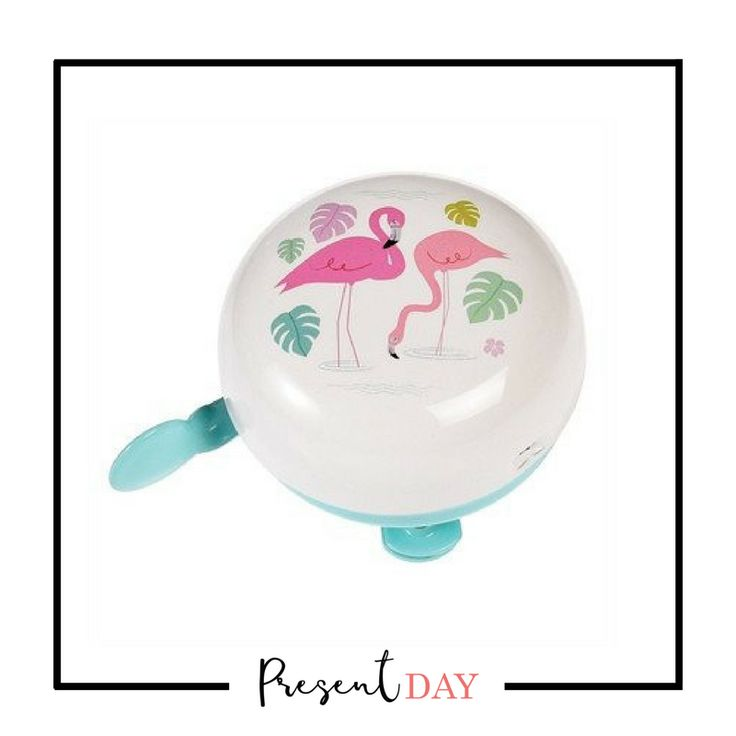Flamingo Bicycle Bell: A super trendy Flamingo Bay bicycle bell in a Le Velo presentation box. Grab this cute bell as a gift or as a treat for yourself! Diameter of bell: 5cm Fixture: 4cm (length) x 2cm (height). Material: Metal, card, plastic. Diameter: 5.0 cm. Price: R95