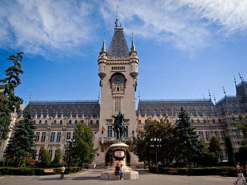 Palatul Culturii din Iaşi - The Palace of culture in Iasi city.