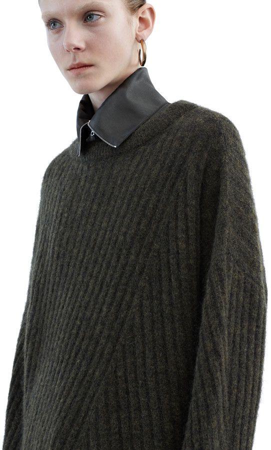 Virdis mohair sweater in military green #AcneStudios #PreFall2015