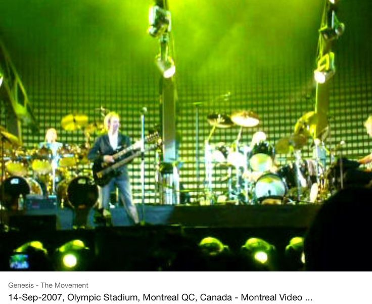 Genesis at the Olympic Stadium in Montreal