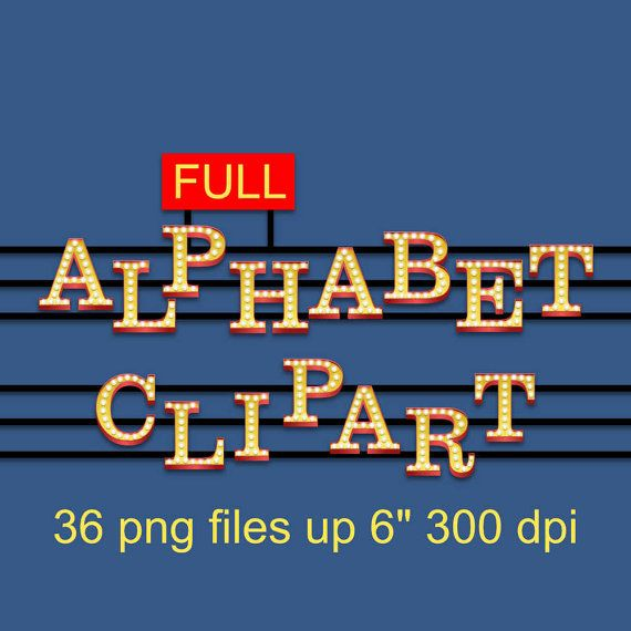 SING Movie 2016  Full Alphabet Clipart  36 png files up 6