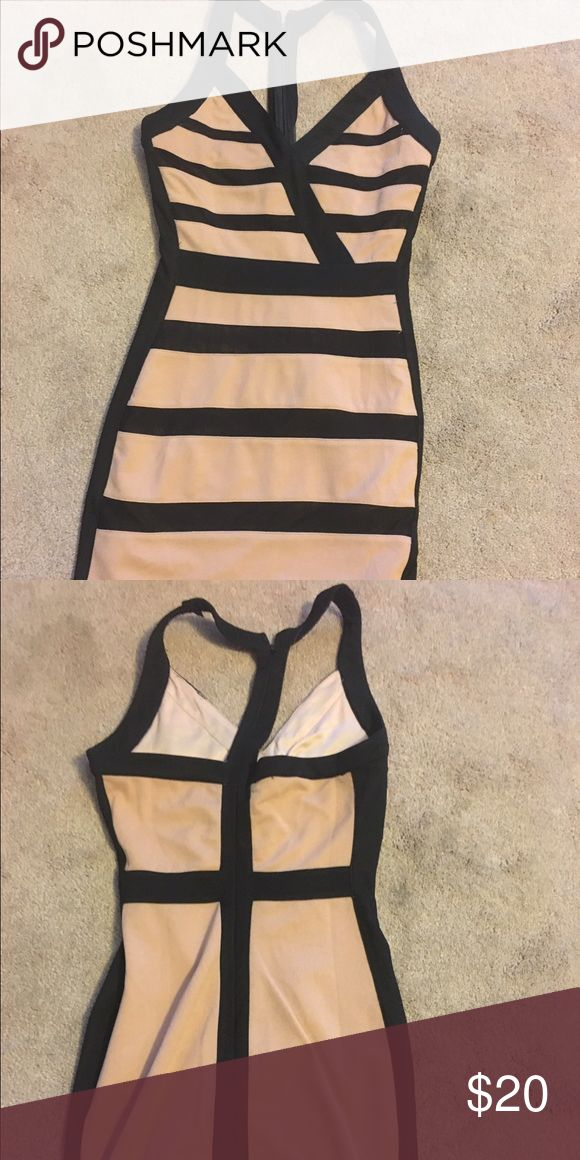 Black and Nude Dress Black and nude going out dress only worn once! Dresses Mini