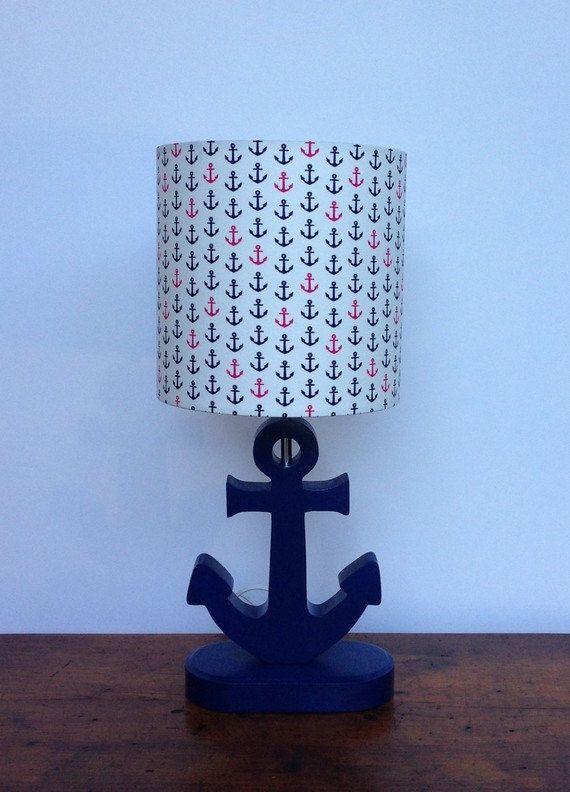 anchor lamp base handmade wooden nautical desk or table