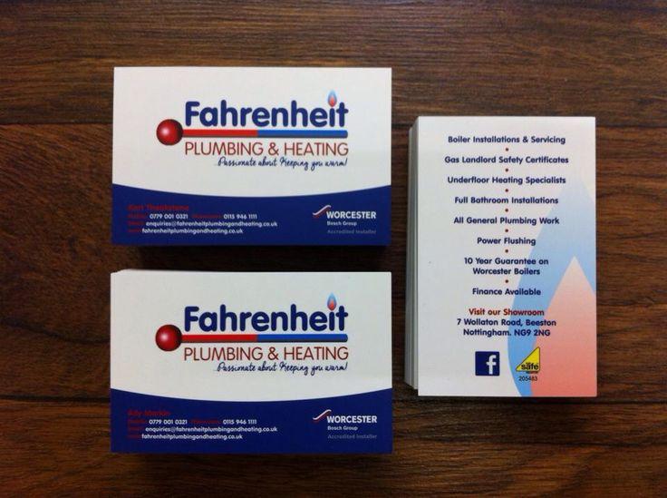 17 best plumbing logo images on pinterest carte de visite fahrenheit plumbing business cards reheart Gallery