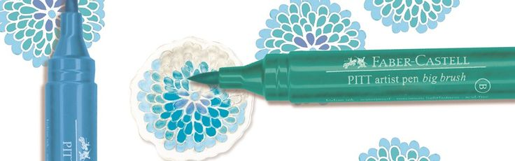 Faber-Castell - Stamper's Big Brush Pens. Blend colors right on your stamp! These lightfast India ink pens have a durable brush nib that's perfect for detailed stamping.