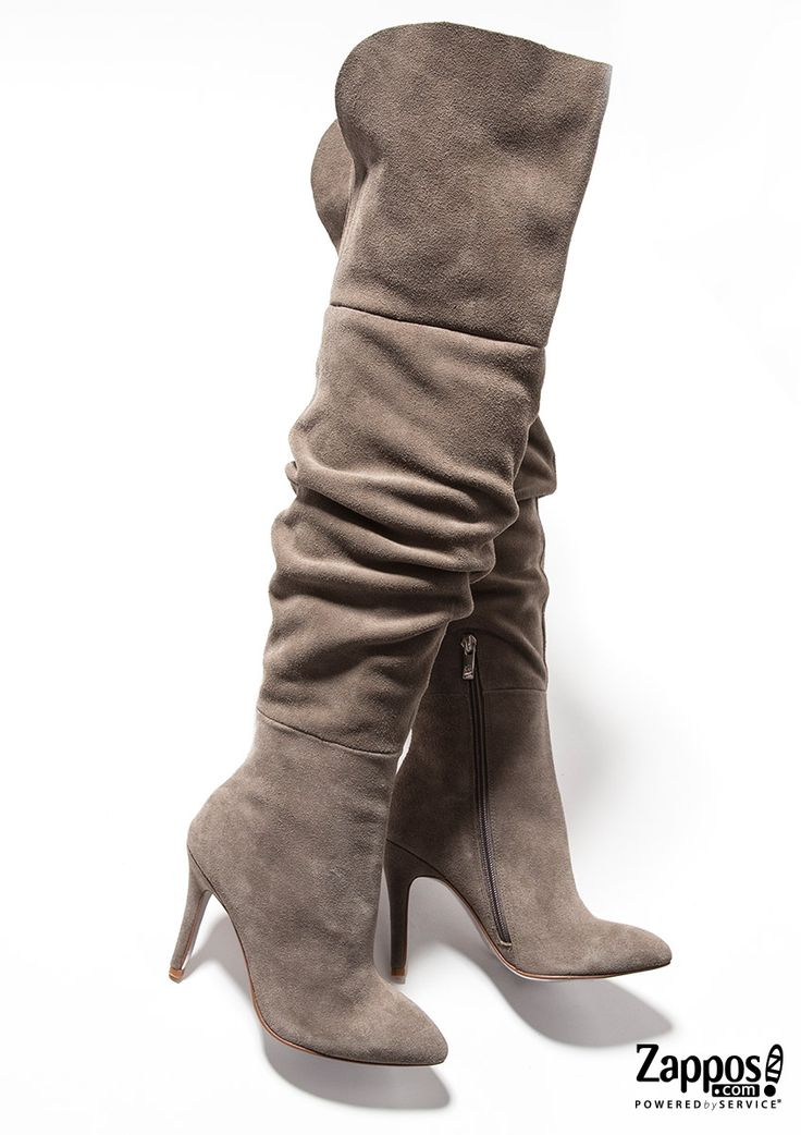 The Calissa Over-the-Knee Boot is part of the Kristin Cavallari Collection from Chinese Laundry. Walk the city streets in a style that's sure to be noticed. Crafted from a velvety suede upper with a slouchy detailing along the shaft. Shop the complete collection at http://www.zappos.com/kristin-cavallari.