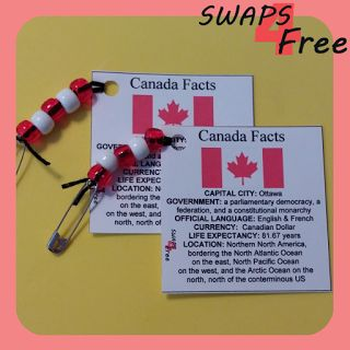 SWAPS4Free: Canada Quick Fact Card World Thinking Day SWAPS - Free Printable!