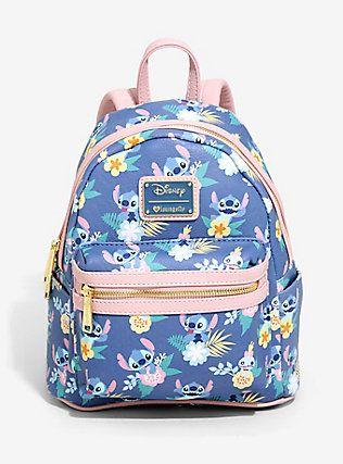 13c20386156 Loungefly Disney Lilo   Stitch Scrump   Stitch Floral Mini Backpack ...