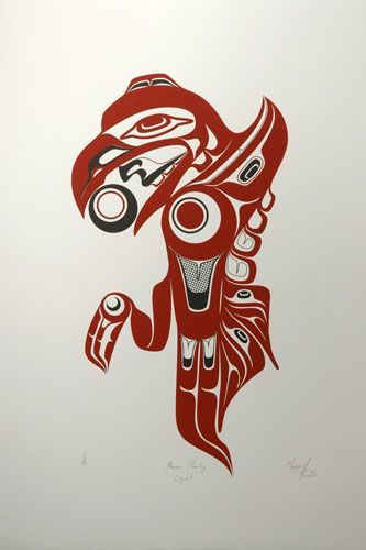 Raven Stealing Light (2005) by Marcel Russ, Haida artist