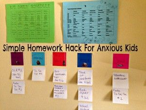 Project management tip (homework hack) using post-it notes