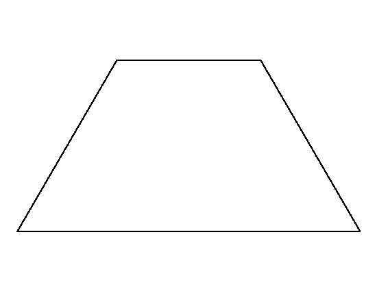Trapezoid pattern. Use the printable outline for crafts ...