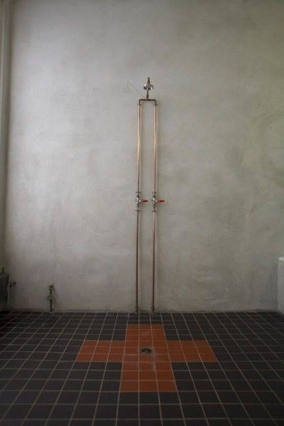 Urban Walker Exposed Plumbing And Plaster Concrete Wall Decorate Pinter