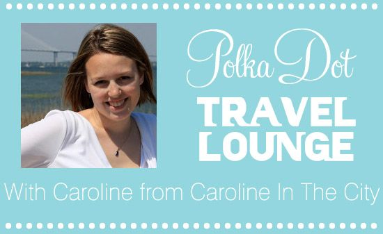 The Polkadot Travel Lounge with Caroline from Caroline In The City via @Polka Dot Bride