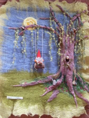 Love the 3D elements in needlefelting...... From the friendship tree