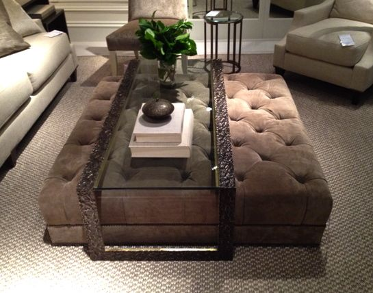 tuffted ottoman/coffee table- love this Dalliance Design