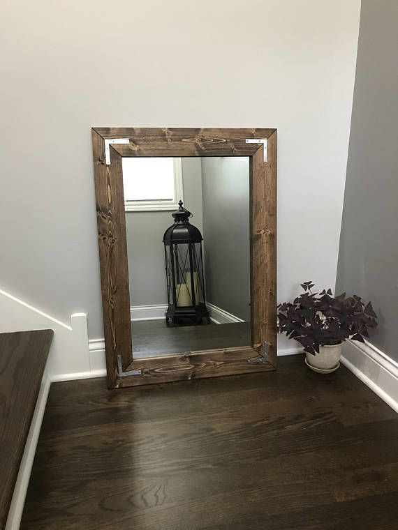 Rustic Farmhouse Mirror, Country Wood Frame Mirror, Wood Mirror, Bathroom Mirror, Wall Mirror, Vanity Mirrors, Cottage Small Large Mirror