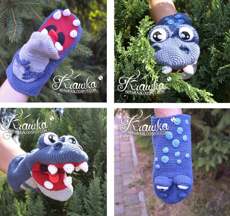 Marionnette dinosaure patron crochet français gratuit amigurumi ( free french pattern dino puppet)