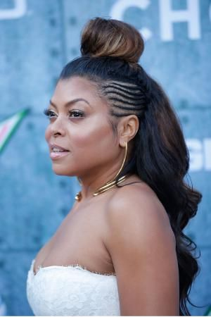 Everything from updos to short naturals are chic enough for the holidays! This gallery of holiday hairstyles for black hair is full of ideas for you!: Holiday Hairstyles: Taraji P. Henson