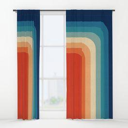 Retro 70s Color Palette III Window Curtains