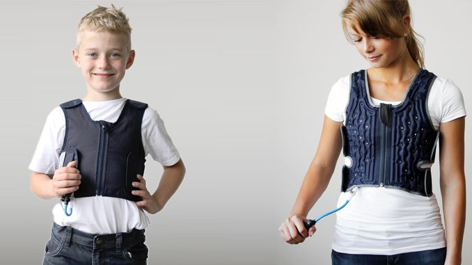 Calming pressure therapy for autism, ADHD and sensory issues. Squeeze inflatable vest helps with anxiety, stress and sensory overload-SQUEAS...