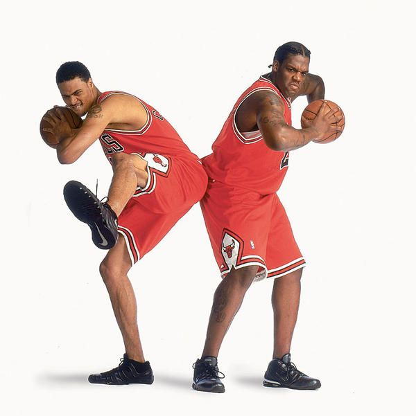 Tyson Chandler and Eddy Curry