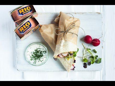 (14) Wrapy z hummusem, tuńczykiem i warzywami. Przepis Ani Starmach. - YouTube
