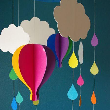 雨の日に作りたい気持ちもアップする手作りカラフルモービル