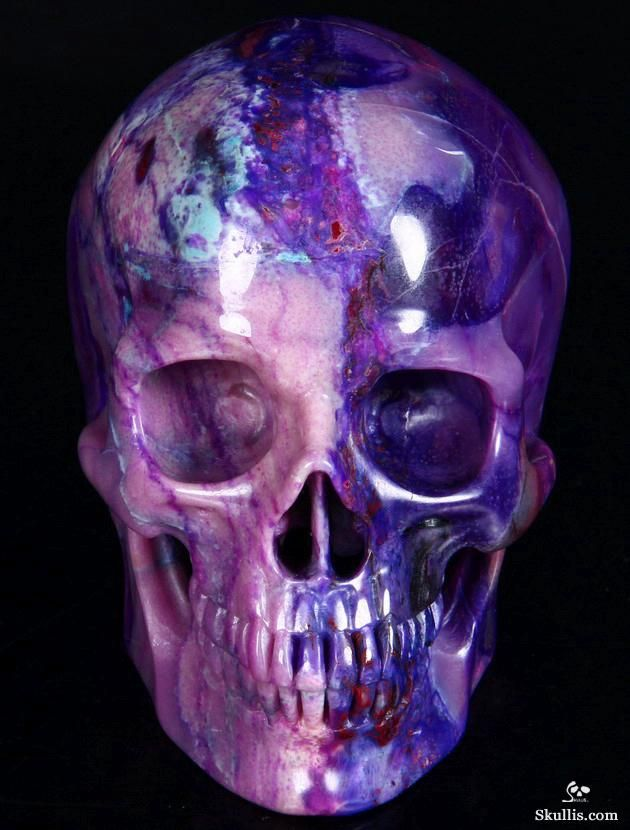 Skullis.com A Crystal Skull a Day: July 19, 2014: Master Teacher - Sugilite Super Realistic Carved Crystal Skull Sculpture