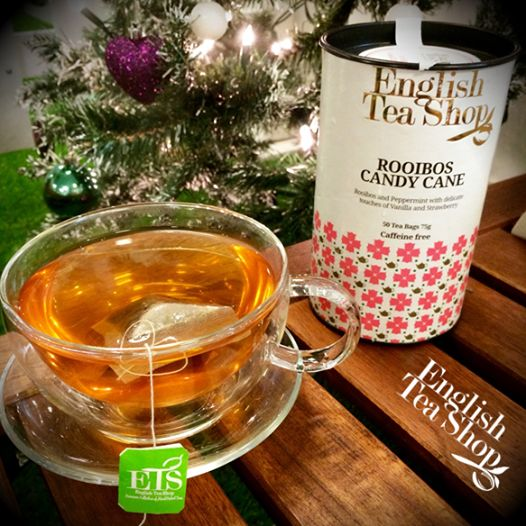 Our Rooibos Candy Cane tea is perfect on a cold winters day!