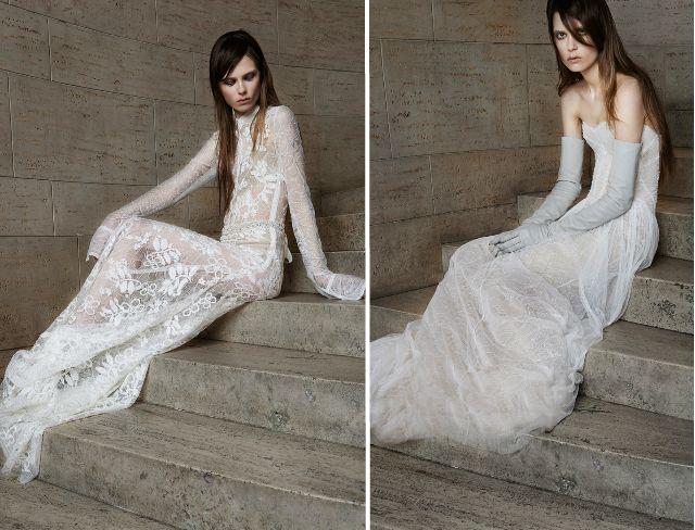 Готические невесты - свадебные платья Vera Wang весна 2015
