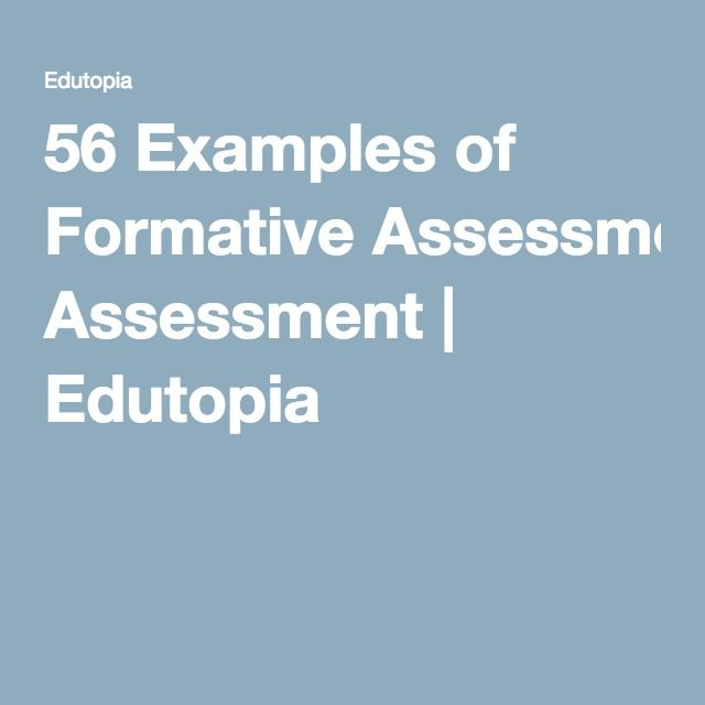 Best 20+ Formative Assessment Examples Ideas On Pinterest