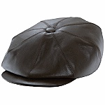 Luxurious In soft lambskin, this Anthony Peto newsboy cap is remarkable and exclusive to Hartford York. Cotton lined with grosgrain sweatband. Item Number: PETO15