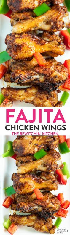 Fajita Chicken Wings - a southwestern twist on hot wings with a bite of lime. Whole 30 appetizer that also makes a great paleo dinner recipe. : thebewitchinkitchen