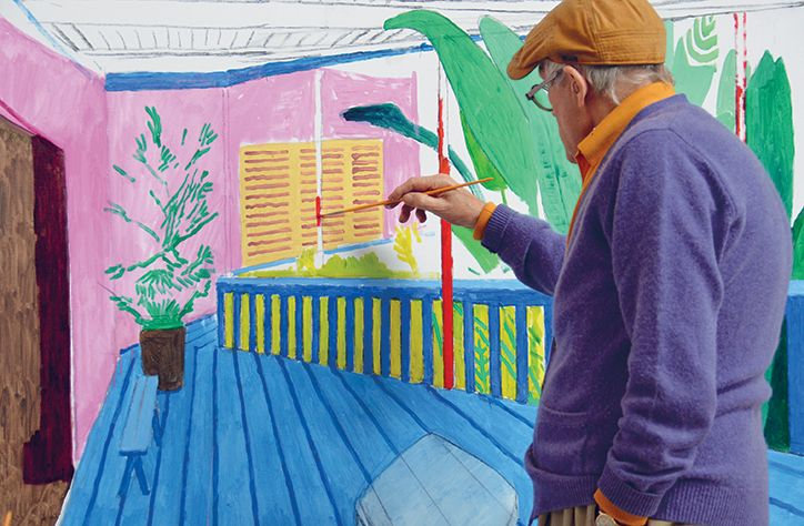 _David Hockney is one of our best-loved living artists, and in 2010 we were let into his world thanks to_ A Bigger Message, _a book by Martin Gayford detailing conversations with Hockney about his life and practise. Recently republished with new and updated materials, the publisher Thames & Hudson has kindly let us reprint an extract where we learn more about Hockney's LA studio._