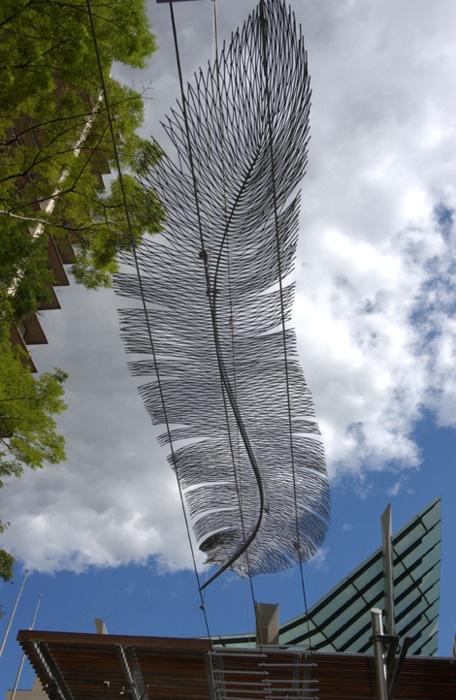 #feather installation. #AustraliaArchitecture Wonder, This Elizabeth Lockhart, Gardens Inspiration, Yards Projects, Design Installations, Feathers Installations, Designs Cr, Lockhart Shanks