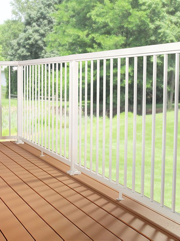 Best Diy Aluminum Railing System Narrow Pickets With White 640 x 480
