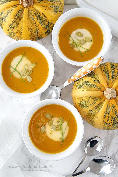 Vellutata di zucca - Butternut squash soup   From Zonzolando.com