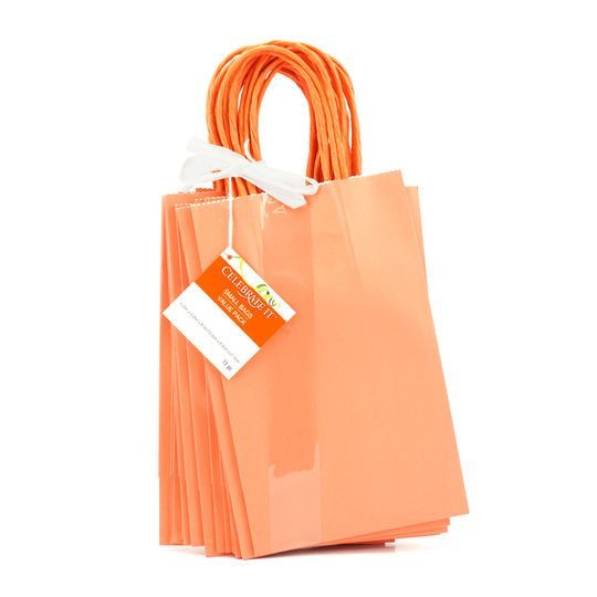 Small Paper Bag Value Pack by Celebrate It™, Coral
