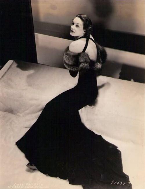 "Gail Patrick, ""Her Husband Lies"", 1937  Dress by Edith Head"